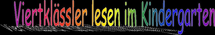 Viertklässler lesen im Kindergarten